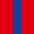 4x Rot / 1x Königsblau