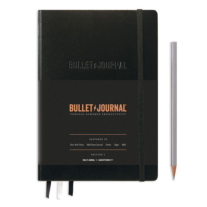 Bullet Journal Edition 2, Medium (A5), Hardcover, 206 nummerierte Seiten, Schwarz, dotted