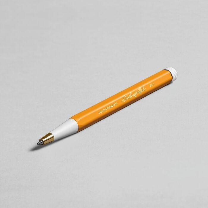 Drehgriffel Nr. 1, Rising Sun - Gelstift mit schwarzer Tinte