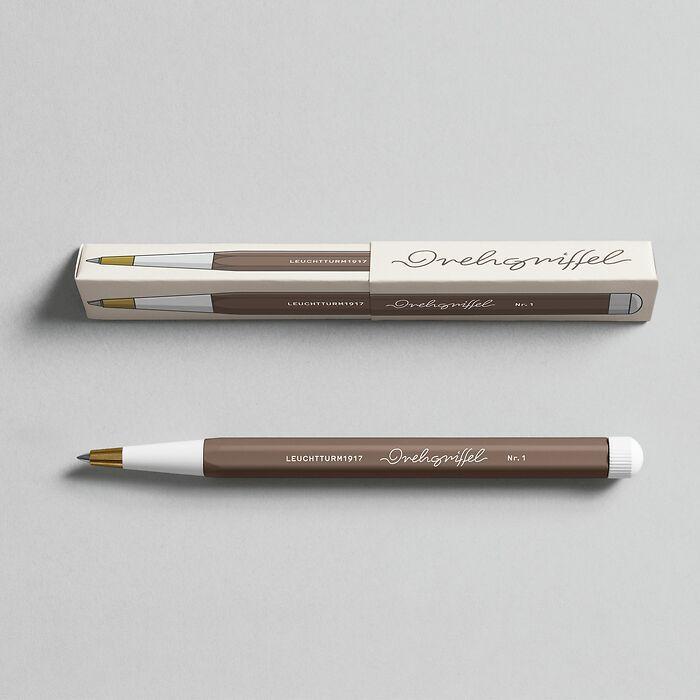 Drehgriffel Nr. 1, Warm Earth - Gelstift mit schwarzer Tinte
