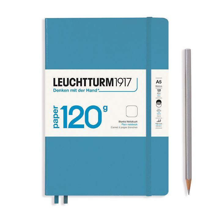 Notizbuch Medium (A5), EDITION 120, Hardcover, 203 nummerierte Seiten, Nordic Blue, blanko